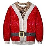 Btruely Kapuzenpullover Herren Weihnachten 3D-Druck Sweatshirt Männer Jacke Vintage Pullover Gedruckt Sweater