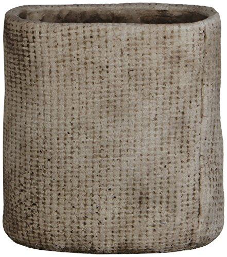 Übertopf KYAN, oval, 117283-T, grau