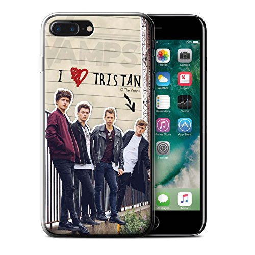 Offiziell The Vamps Hülle / Gel TPU Case für Apple iPhone 7 Plus / Connor Muster / The Vamps Geheimes Tagebuch Kollektion Tristan