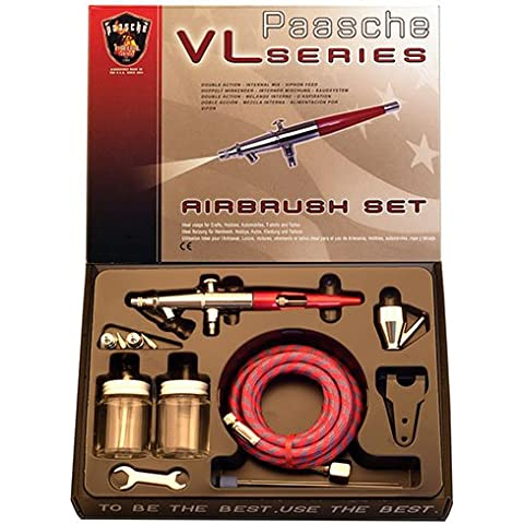 Paasche VL-202S Airbrush Kit with Anodized Aluminum Handle by Paasche Airbrush