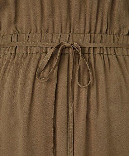 ... REKEN MAAR Kleid - Zipper-Dekor - Comfort Fit - Army-Look Khaki