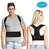 Doact Geradehalter zur Haltungskorrektur - Rücken Schulter Verstellbar Atmungsaktiv Rückenbandage Rückenhalter Haltungskorrektur für Damen und Herren L