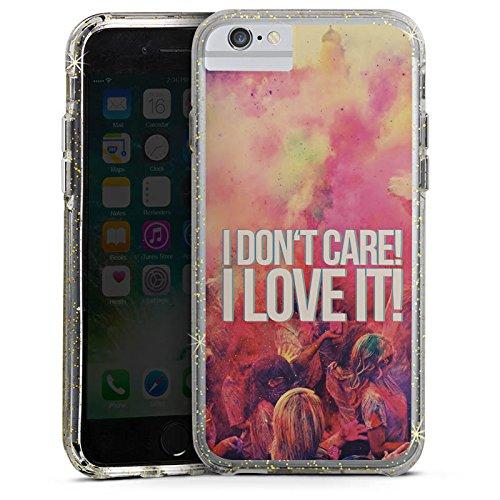 Apple iPhone X Bumper Hülle Bumper Case Glitzer Hülle Party Sayings Phrases Bumper Case Glitzer gold