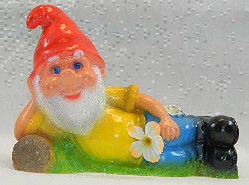 Gartenzwerg liegend, Zwerg, Kunststoff, 21 cm