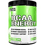 Evlution Nutrition BCAA Energy - High Performance, Energizing Amino Acid Supplement for Muscle Building, Recovery, and Endurance (30 Servings) Lemon Lime