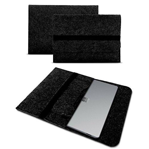 Microsoft Surface Laptop 13,5 Sleeve Cover Hülle Tasche Notebook Filz Case Schutzhülle, Farben:Dunkel Grau