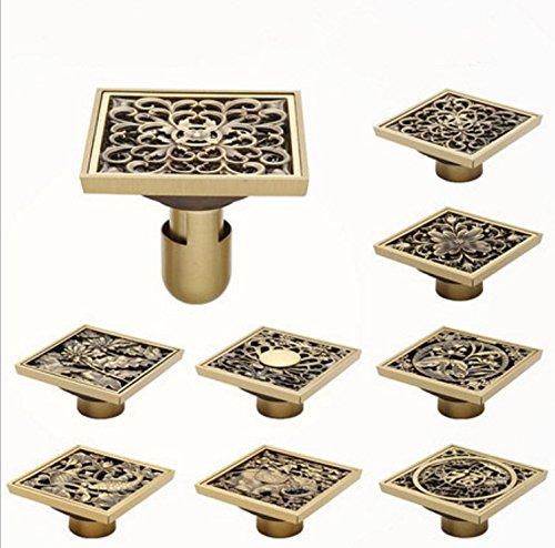 el-arte-cuadrado-de-la-vendimia-de-la-alta-calidad-tallo-los-accesorios-del-cuarto-de-bano-del-drena