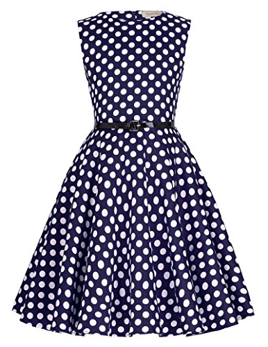 Kate Kasin Maedchen Retro Kleid Ballkleid Abendkleid Aermellos 9-10 Jahre KK250-12