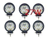 Miracle Lampe LED 27W projecteur spot idéal pour véhicule tout-terrain, chantier, phare bateau, auto 12V 24V (6)