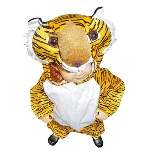 Seruna Tiger-Kostüm, AN28/00 Gr.86-92, für Klein-Kinder, Babies, Tiger-Kostüme für Fasching Karneval, Kleinkinder-Karnevalskostüme, Kinder-Faschingskostüme, Geburtstags-Geschenk - Tiger Kostüm Kleinkind