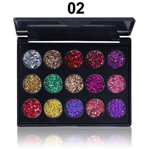 SMILEQ Schimmer Glitter Lidschatten Pulver Palette Matte Lidschatten Kosmetik Make-up (B)