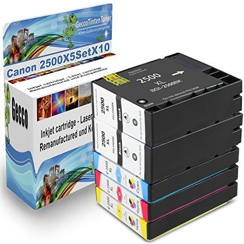 Preisvergleich Produktbild Spetan Druckerpatrone Ersatz für Canon PGI 2500 XL Multipack Schwarz BK Black Cyan Magenta für Canon Maxify mb5350 mb5050 mb5450 mb4050 iB4050 , set Auswählen: :10er Set