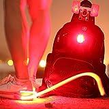 MaMaison007 ROCKBROS 2 Modi Fahrrad Wasserdichte Flash-LED Nachtlicht Laufen zu Fuß Clip Sicherheit Warnleuchte - 2