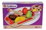 Eichhorn 100003721 - Schneidebretter, Set mit Früchten, 12-teilig - 26x16,5 cm - Schneideobst aus Holz mit Klett-Verbindung -