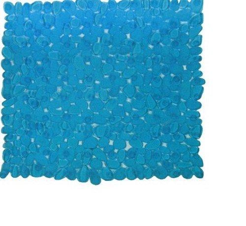 Maurer tappeto bagno azzurro con ventose antiscivolo e antimuffa pvc cm 54x54