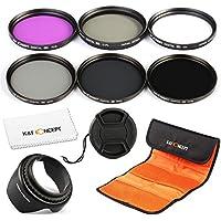 67mm Filtro FLD CPL UV ND2 ND4 ND8 Filtro 6pcs Polarizzatore Circolare per Kit UVFiltro Polarizzatore Circolare per Canon 7D 700D 600D 70D 60D 650D 550D per Nikon D7100 D80 D90 D7000 D5200 D3200 D5100 D3200 D5300 DSLR Camera + Stoffa di pulizia per lente + paraluce + Cappuccio di lente + Borsa