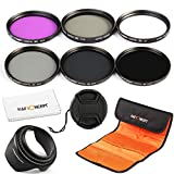 K&F Concept Objektiv Filterset 77mm Filter Kit ND2 ND4 ND8 Filter 77mm ND Filter 77 mm UV Filter 77mm Schutzfilter 77mm CPL Filter FLD Filter Polfilter 77mm Objektiv Filter 77mm mit Gegenlichtblende 77mm Reinigungstuch Filtertasche Objektivdeckel für Canon Nikon Sony Kamera