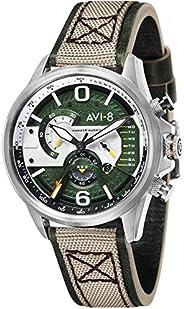 AVI-8 Mens Hawker Harrier ll Watch - Green/Beige