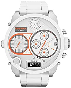 Diesel Men's DZ7277 White Silicone Quartz Watch with White Dial