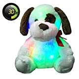 Wewill Brillante Cachorros Juguetes De Peluche Juguetes De Peluche Juguetes Juguetes De Color Noche De Luz Animales Rellenos, 12-Inch/ 30CM