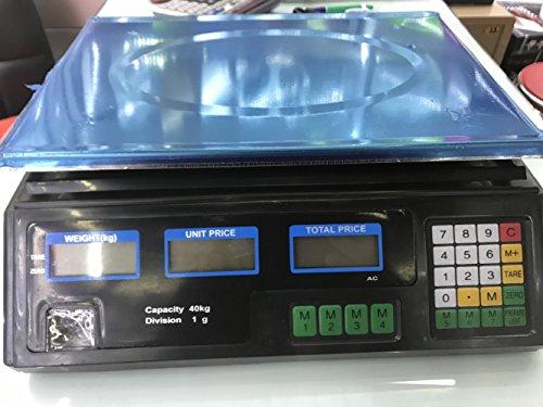 GJJ Englisch Version Der Elektronischen Preisgestaltung Genannt Obstwaagen - Elektronische Waagen - Elektronische Preisgestaltung Plattform 30Kg / 40Kg,schwarz,40g