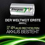 Energizer NimH-Akku Rechargeable Power Plus Mono (D) (1,2Volt 2500mAh, 2er-Packung)