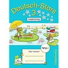 Deutsch-Stars - TING-Ausgabe: 3. Schuljahr - Lesetraining: Übungsheft. Mit Lösungen