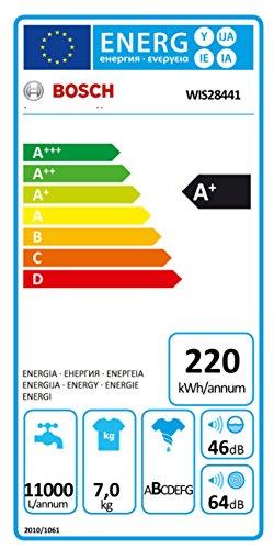 Bosch WIS28441 Serie 8 Waschmaschine FL / A+ / 220 kWh/Jahr / 1400 UpM / 7 kg / 11000 L/Jahr / VarioSoftTM Trommel / weiß