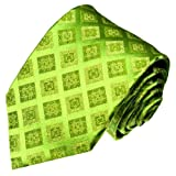 Lorenzo Cana - Original Marken Krawatte aus 100% Seide - Gruen Hellgruen Lindengruen Karo Ton in Ton - 84059
