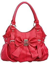 Laurel & Sunset Missy Bow Pleated Shoulder Tote Bag