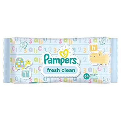 Pampers Fresh Clean Baby Wipes - 768 Wipes, Pack of 12