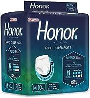 Honor Adult Diaper Pants, Medium - 10 Count (65-85 cms | 24-33 inches)