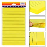 PIGLOO Self-Stick Sticky Note Pad, Ruled, 8.2 x 5 inch, 100 Sheets, Yellow