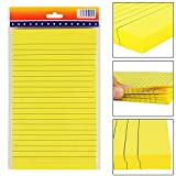 #6: PIGLOO Self-Stick Sticky Note Pad, Ruled, 8.2 x 5 inch, 100 Sheets, Yellow