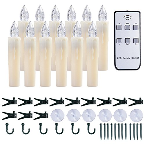 ess Taper Kerzen flackern batteriebetriebene Elektrische Fenster kerzenlicht, Warmen weißen, Perfekte Harry - Potter - Dekoration Weihnachten Urlaub Partei ... (12PCS 0.6