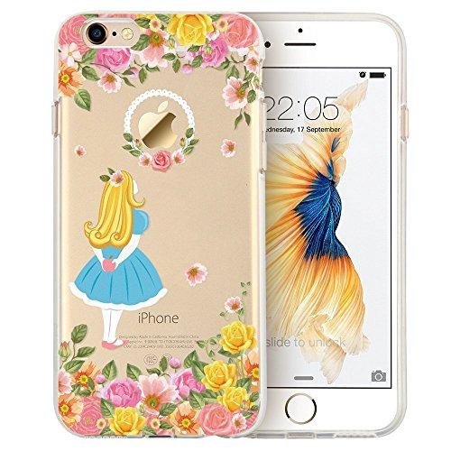 Blitz® Mania Series Transparent Weiche Silikon Schutzhülle TPU Bumper Case iPhone Ballon Mädchen iPhone 6sPLUS Alice im Wunderland
