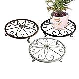 b1st Pflanzenständer Blumentopf Halter Olde Metall/Eisen Art Blume unterstützen Indoor Outdoor Garden Pack von 3Farben, weiß, schwarz & braun