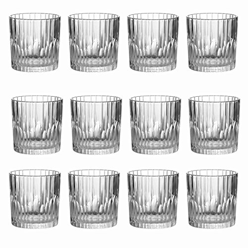 Duralex Manhattan - Whiskygläser im Old-Fashioned-Glas-Stil - Vintage-Design - 310 ml - 12 Stück Old Fashioned Gläser