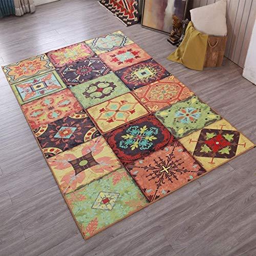GXQL Klassische europäische Retro Teppichkunst Rutschfester großer Teppich für Wohnzimmerschlafzimmer,140X200cm