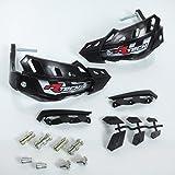 Protège main intégraux Racetech FLX noir spécial quad fixation en bout de guidon