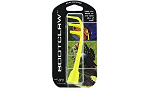 Bootclaw - the pocket mud scraper that can also tighten studs! Ideal for for football/rugby boots, golf shoes, trainers and walking boots. (neon)