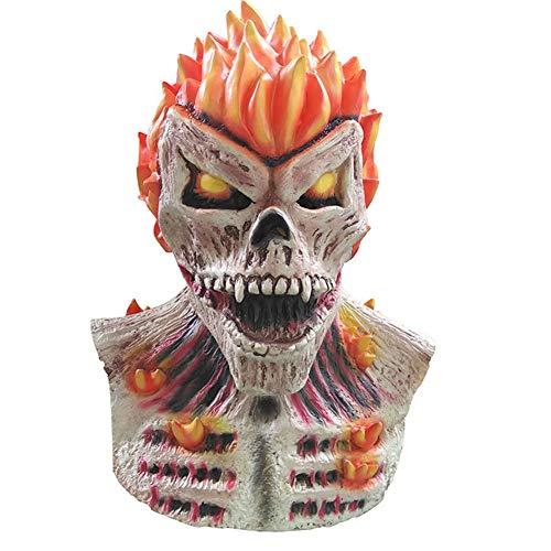 Gzhengjie Halloween Maske Horror Monster Halloweenmaske Horrormaske Gruselmaske Fasching- Latex, Unisex - Perfekt Für Fasching, Karneval & Halloween - Kostüm Für Erwachse- Latex, Unisex