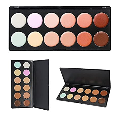 Cosmetics Cream Concealer Palette, KRABICE 12 Color Makeup Dark Circle Concealer Cream Make Up Foundation Makeup Palette Set