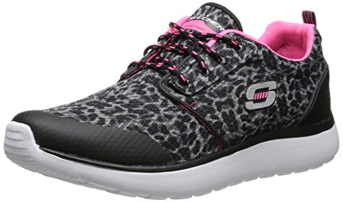 Skechers - Sneakers per bambine e ragazze BKHP BLACK/PINK