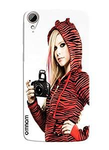 Omnam Girl Taking Selfie Printed Designer Back Cover Case For HTC Desire 828