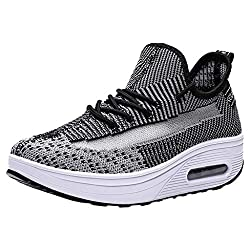 princer women's comfortable sneakers lightweight non-slip casual shoes breathable road running shoes athletic sneakers for walking gym sport - 51LxA9qNjVL - PRINCER Women's Comfortable Sneakers Lightweight Non-Slip Casual Shoes Breathable Road Running Shoes Athletic Sneakers for Walking Gym Sport