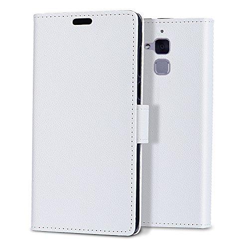 ASUS Zenfone 3 Max ZC520TL Custodia - bdeals Elegante Portafoglio in Bookstyle Protettiva Custodia in PU pelle per ASUS Zenfone 3 Max ZC520TL ,bianco