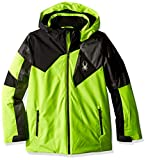 Spyder Jungen Leader Jacke, Bryte Yellow/Polar Herringbone/Black, 176