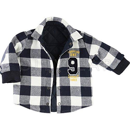 Timberland – Abrigo – Cuadros – para bebé Azul Azul Marino 12 Meses