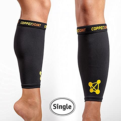 CopperJoint Calf Compression Sleeve, #1 Copper Infused Fit Support -